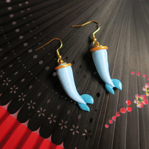 Sky Blue Mermaid Tail Earrings