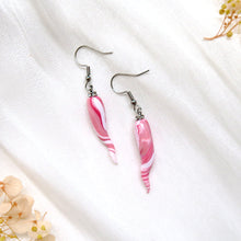 Load image into Gallery viewer, Minimalist Rose Ivory Polymer Clay Earrings