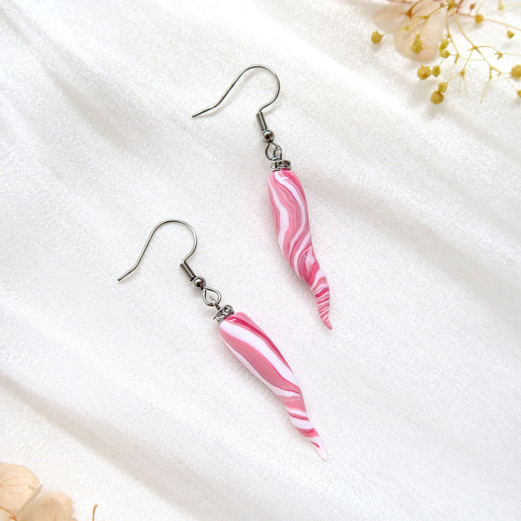 Minimalist Rose Ivory Polymer Clay Earrings