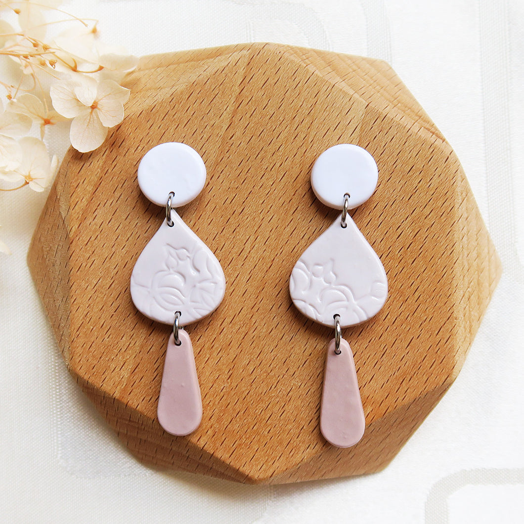 Polymer clay basic nude colors earrings