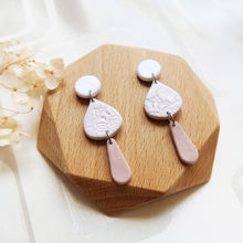 Load image into Gallery viewer, Polymer clay basic nude colors earrings