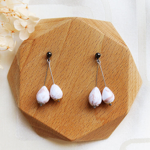 Polymer clay basic nude colors earrings egg dangle