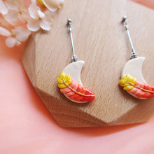 Load image into Gallery viewer, Polymer Clay Moonlight Fantasy Earrings Multicolor Fiery