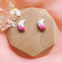 Load image into Gallery viewer, Polymer Clay Moonlight Fantasy Earrings Multicolor Sweet Pink