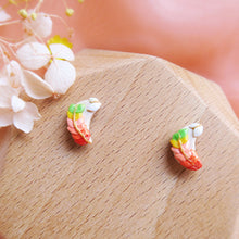 Load image into Gallery viewer, Polymer Clay Moonlight Fantasy Studs Multicolor