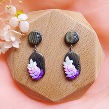 Load image into Gallery viewer, Polymer Clay Moonlight Fantasy Earrings Sweet Lavender PIll