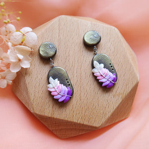 Polymer Clay Moonlight Fantasy Earrings Sweet Lavender PIll