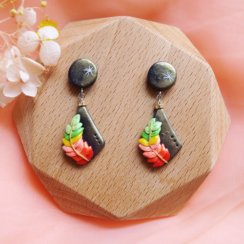 Polymer Clay Moonlight Fantasy Earrings