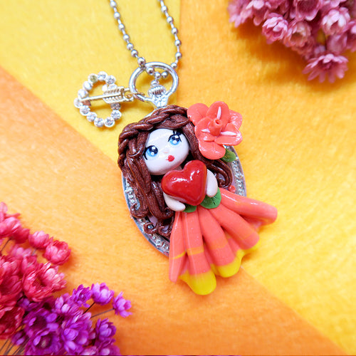 Princess Sophie with love in orange royal dressKeychain/Pendant