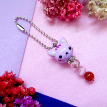 Load image into Gallery viewer, Little Animals Keychain purple kitty