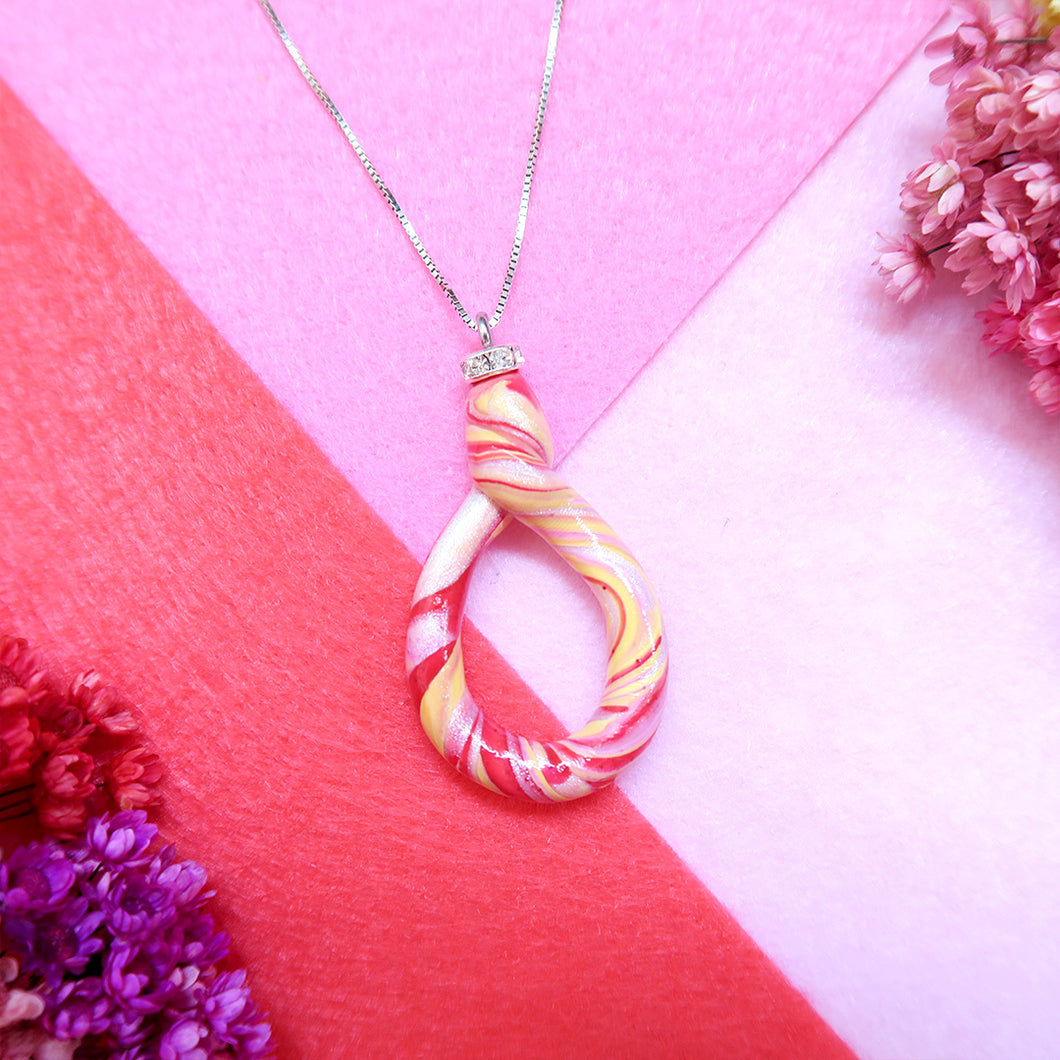 Candy Yellow Red Swirl Pendant