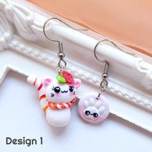 Load image into Gallery viewer, Rosy Cat Earrings (Orange-Red)