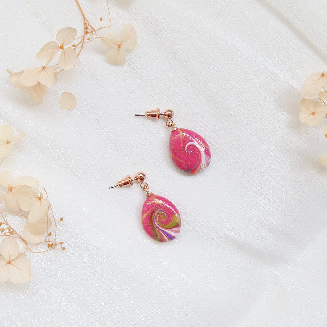 Rosy Swirl Earrings