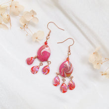 Load image into Gallery viewer, Rosy Swirl Earrings