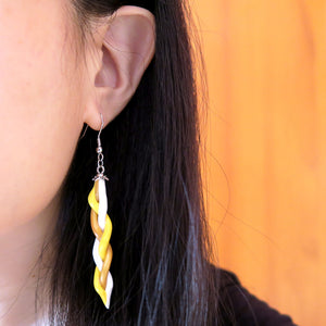 Sunshine Yellow Braids Earrings