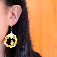Load image into Gallery viewer, Sunshine Yellow Round Braids Earrings