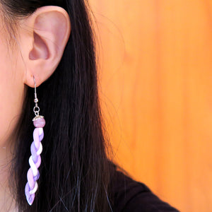 Sweet Lavender Braids Earrings