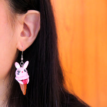 Load image into Gallery viewer, Sweet Bunny Icecream Earrings