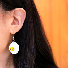 Load image into Gallery viewer, Little Sunny Side Up Egg Earrings/Keychain