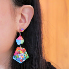 Load image into Gallery viewer, Life's an Art Asymmetric Earrings