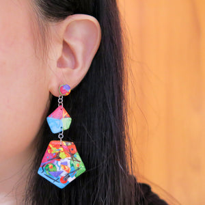 Life's an Art Asymmetric Earrings