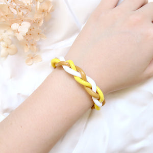 Sunshine Yellow Braids Bracelet