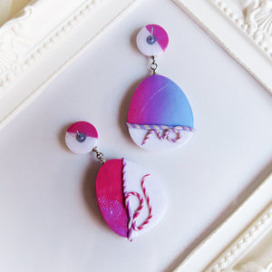 Polymer Clay Moonlight Marble Fantasy Earrings