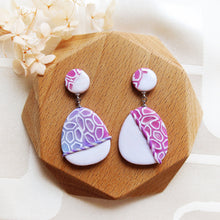 Load image into Gallery viewer, Polymer Clay Moonlight Marble Fantasy Earrings