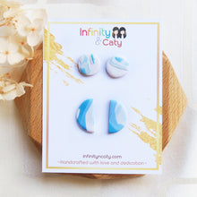 Load image into Gallery viewer, Polymer Clay Santorini Vibes Stud Pack