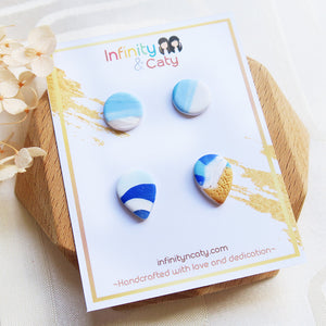 Polymer Clay Santorini Vibes Stud Pack