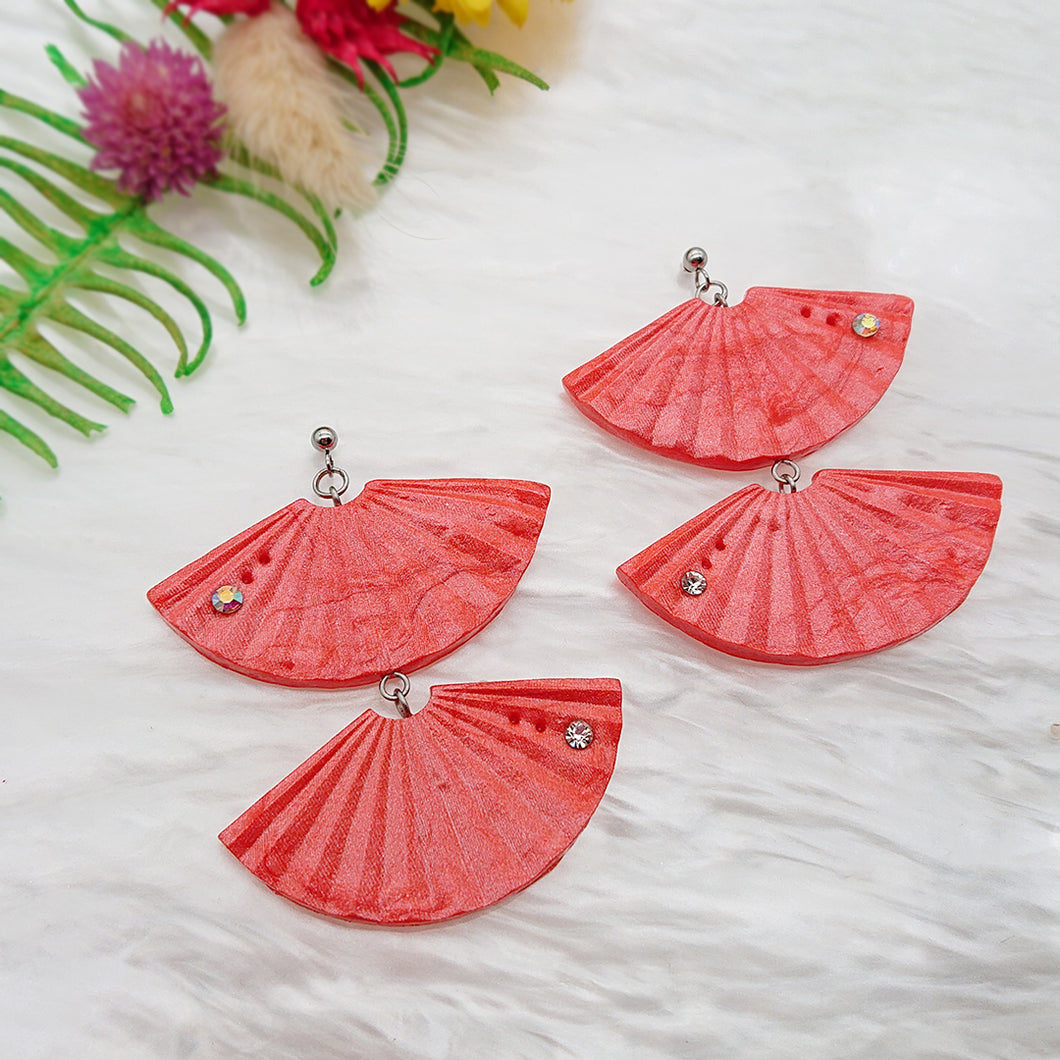Simplicity - Unique pair of handmade polymer clay earrings that make you stand out in the crowd. Handmade in Singapore.