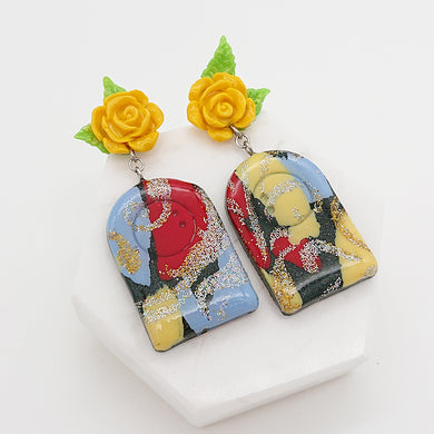 Splash - Unique pair of handmade polymer clay earrings that make you stand out in the crowd. Handmade in Singapore.