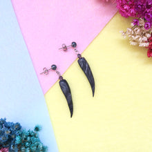 Load image into Gallery viewer, Black Ivory Earrings