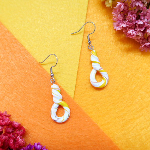Sunshine Yellow Swirl Earrings