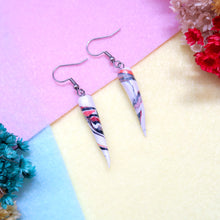 Load image into Gallery viewer, Minimalist Ivory Swirl Earrings