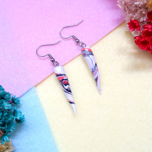 Minimalist Ivory Swirl Earrings