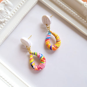 Twirl Candy Earrings