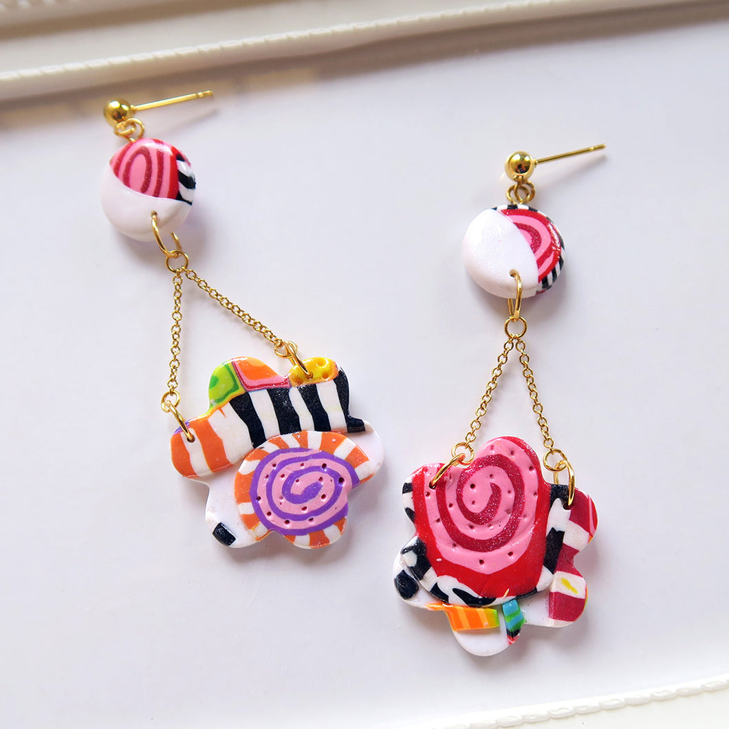 Candy Block Earrings
