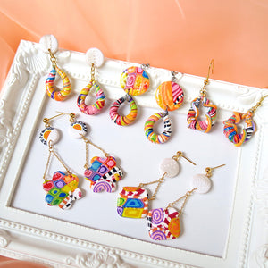 Mix Candy Block Earrings