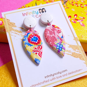 handmade polymer clay earrings Singapore  - Chinese New Year Prosperity Collection