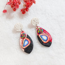 Load image into Gallery viewer,  Unique pair of handmade polymer clay earrings that make you stand out in the crowd. Handmade in Singapore.