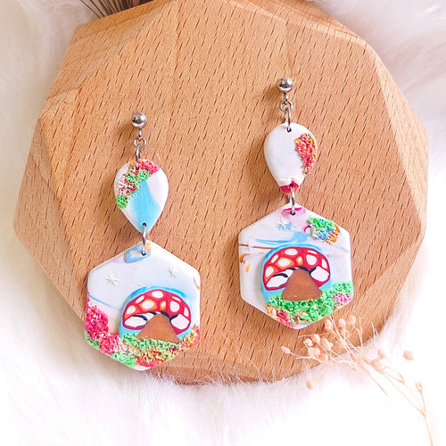Mushroom Wonderland Earrings