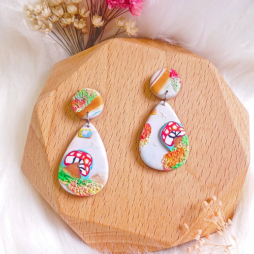 Mushrooms Wonderland Earrings