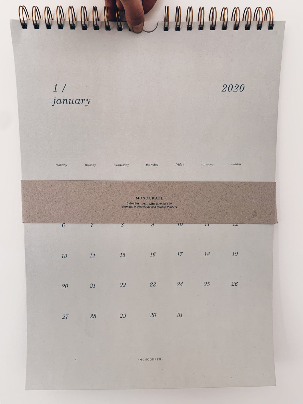 Calendrier Wall 2020 - Monograph