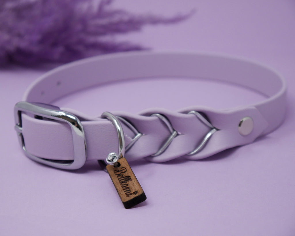 Biothane Deluxe Halsband Pastel-Lila