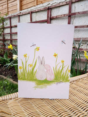 Easter Bunnies Card by Guan - Home(less) Made
