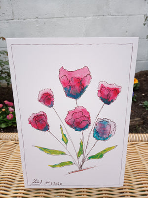 Purple Tulips Card by Lui - Home(less) Made