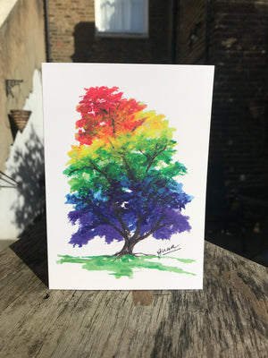 Rainbow Tree 'Life' Card by Guan - Home(less) Made