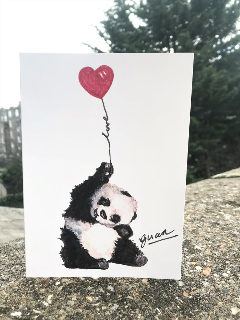 Panda Love Card by Guan - Home(less) Made
