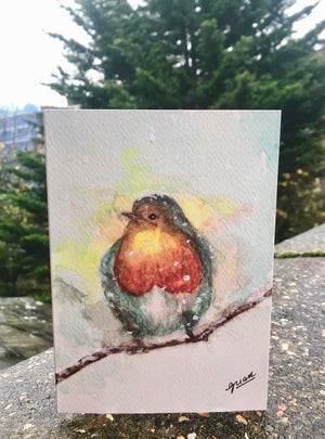 Winter Robin Card by Guan - Home(less) Made